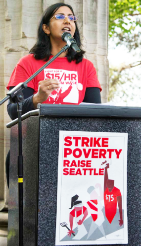 Photograph courtesy of the Sawant campaign.